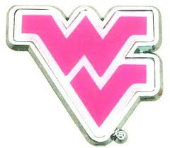 West Virginia Mountaineers Pink Auto Emblem Sports Fanz
