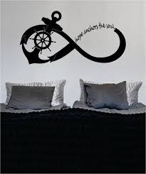 Hope Anchors The Soul Anchor Infinity Sign Nautical Ocean Beach Decal Boop Decals