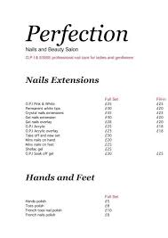 perfection nails and beauty salon
