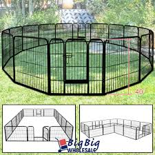 All Yaheetech 16 Panels Heavy Duty Dog Playpen Large Exercise Fence Black For Sale Online Ebay