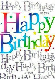 birthday quotes happy birthday several times one in rainbow