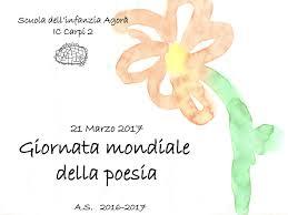 Giornata mondiale della poesia by Infanzia Agorà - issuu
