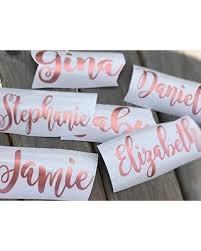 2020 Sales On Personalized Bridesmaid Vinyl Decal Only Diy For Tumblers Cups Rose Gold On Champagne Glasses Maif Of Honor Gifts