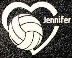 Custom Personalized Volleyball Softball Decal Car Sticker Window Decal Ebay