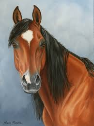 "Painting : ""Arabian"" (Original art by Karla Smith)"
