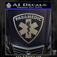 Paramedic Triangular Badge Decal Sticker A1 Decals