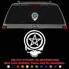 Amazon Com Death Skull Pentacle Wiccan Pagan Die Cut Vinyl Decal Sticker For Car Truck Motorcycle Vehicle Window Bumper Wall Decor Laptop Helmet Size 6 Inch 15 Cm Tall Color Gloss Black
