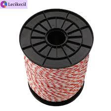 Sma Electric Fence Poly Wire 2mm Red White Polywire With Steel For Horse Sheep High Quality Shopee Philippines