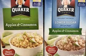 quaker oats boast 35 percent less sugar