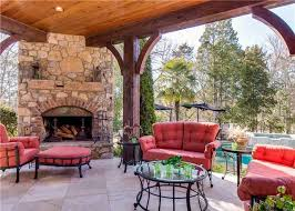 covered patio fireplace home design