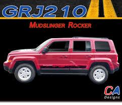 2007 2015 Jeep Patriot Mudslinger Rocker Vinyl Stripe Kit Moproauto Professional Vinyl Graphics And Striping