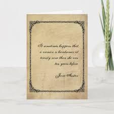 jane austen quote birthday card customized com