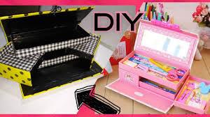 box diy makeup storage and organizer