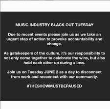 Music Industry Calls for Tuesday ...