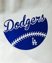 La Dodgers Dual Color Baseball Vinyl Decal Car Window Bumper Sticker Computer Decal In 2020 Baseball Vinyl Decal La Dodgers Baseball Dodgers Baseball