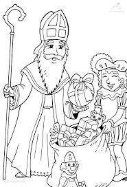Kleurplaat Sinterklaas Sint Sint En Piet