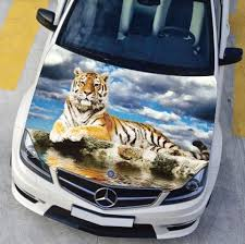 Cloud Car Engine Hood Sticker Head Hd Tiger Cool Styling Decal Decor Carbon Vinyl Cover Waterproof Car Engine Hood Hood Stickercarbon Vinyl Aliexpress