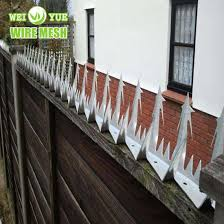 China Anti Climb Security Razor Spikes Used On The Wall Fencing Top China Wall Spikes Barbed Wire