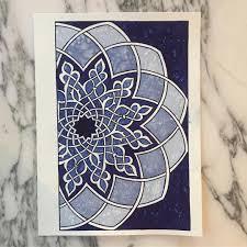 Mamluk pattern taught by Adam Williamson. #islamicpattern  #artofislamicpattern #loveblue #loveblue💙 | Turkish art, Islamic art,  Fabric art
