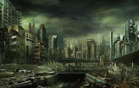 wallpaper the city destruction