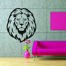 Wall Decal Lion Animal Tiger Africa Head Mane Predator Cat M133 Ebay