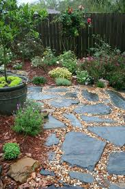 stones and pea gravel beside the patio