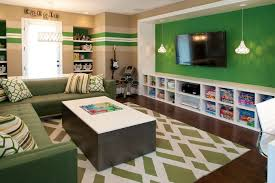 Kids Game Room Kids Contemporary With Striped Walls Green And White Rug 6 Tdf Blog