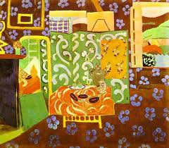 interior in aubergines by henri matisse