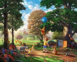winnie pooh thomas kinkade family