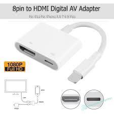 Dây cáp kết nối HDMI 1080p 8Pin sang HDMI TV AV cho iPhone 6 6S 7 8 Plus X