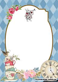 Free Alice In Wonderland Baby Shower Invitations Templates Alice