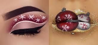 christmas themed make up has been