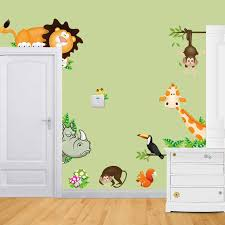Cute Animal Dinosaur Live In Your Home Diy Wall Stickers Home Decor Jungle Forest Theme Wallpaper Gifts For Kids Room Decor Wall Stickers Aliexpress