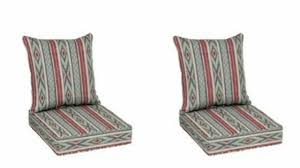 red stripe patio deep seat cushion set