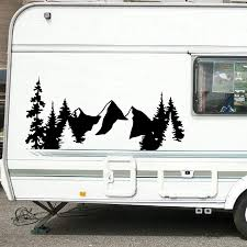 For Suv Rv Camper Offroad Decor Tree Forest Nature Scene Mountain Decal Car Decoration Woodland Timber Vinyl Art Sticker Wall Stickers Aliexpress