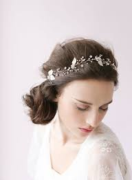bridal flower crystal headpieces