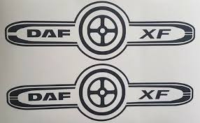 daf xf truck logo decal x2 daf xf cf lf
