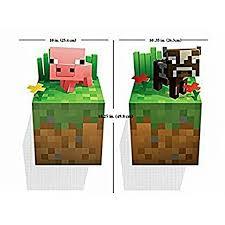 Minecraft Wall Decal Bay Pig Baby Cow Walmart Com Walmart Com
