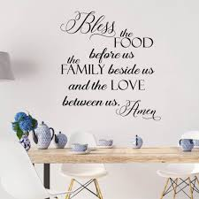 Bless The Food Before Us Vinyl Wall Decal Decal The Walls