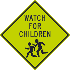 Watch For Children Graphic 30x30 Reflective Sign Aris Industrial Supply