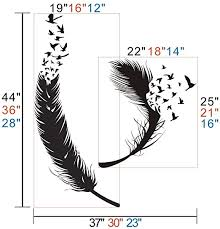 Amazon Com Abstract Feathers Birds Wall Decal Birds Of Feather Decal Vinyl Wall Art For Living Room Bedroom Nursery Feather Wall Stickers Home Kitchen