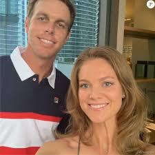 Sam Querrey et sa femme Abby Dixon, selfie en mars 2019 sur Instagram.  Marié depuis juin 2018, le couple a révélé à l'automne 2019 attendre son  premier enfant. - Purepeople