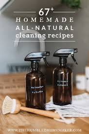 homemade all natural cleaning recipes