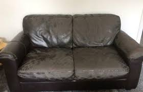 free distressed brown leather sofa in