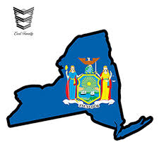 Earlfamily 13cm X 9 2cm Car Styling New York State Flag Map Jdm Printed Vinyl Decal Car Sticker Ny Usa Waterproof Accessories Car Stickers Aliexpress