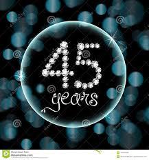Los 45 Os Diamantes De La Invitacion De La Tarjeta Del Aniversario