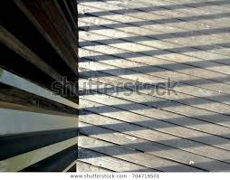Wooden Slat Floor Sunlight Shadow Fence The Arts Stock Image 704719501