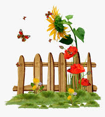 Gardener Clipart Gardening Flowers With Fence Clip Art Hd Png Download Transparent Png Image Pngitem