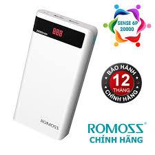 Mua Pin sạc dự phòng cao cấp Romoss Sense 6P 20000mAh (Trắng) - Hãng phân  phối chính thức giá chỉ 409.000₫