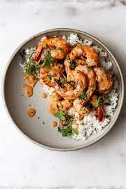 Creamy Seafood Sauce Over Shrimp ...